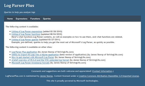 LogParserPlus.com second (current) design